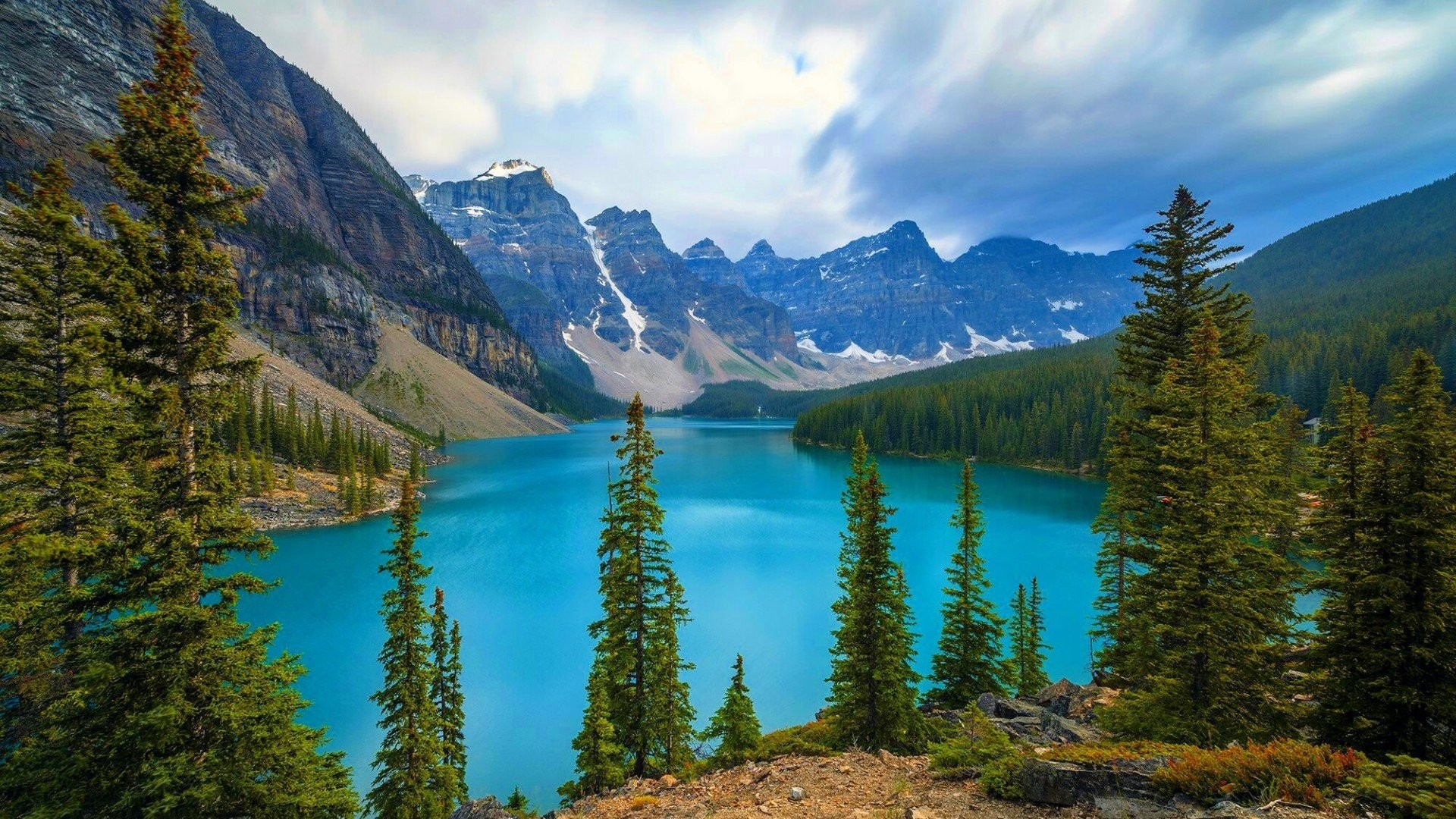 Full Hd For Backgrounds Lakes National Moraine Park Banff Animated
