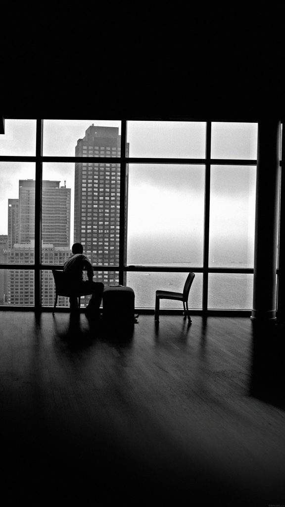 Man-Alone-Apartment-Skyscrapers-View-iPhone-Plus-HD-Wallpaper-PIC-MCH084410-576x1024 Lonely Wallpapers For Android 37+