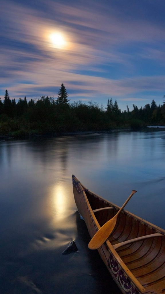 River-Boat-Sunset-Silky-Water-iPhone-wallpaper-PIC-MCH099015-576x1024 Calm Wallpapers For Iphone 6 39+