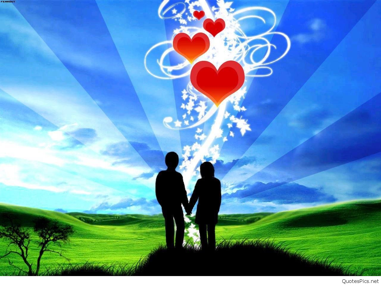 Animated Love Couple Wallpaper PIC MCH040580