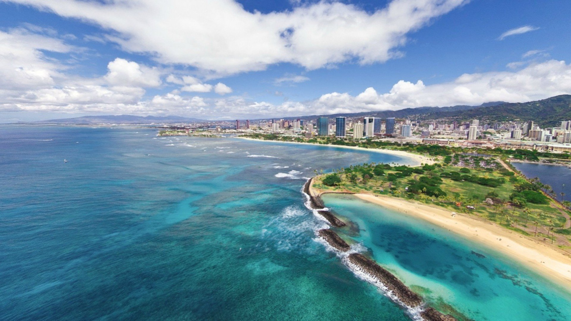 Beach Wallpaper Hawaii Cityscapes Ocean Clouds Landscapes Hawaiian