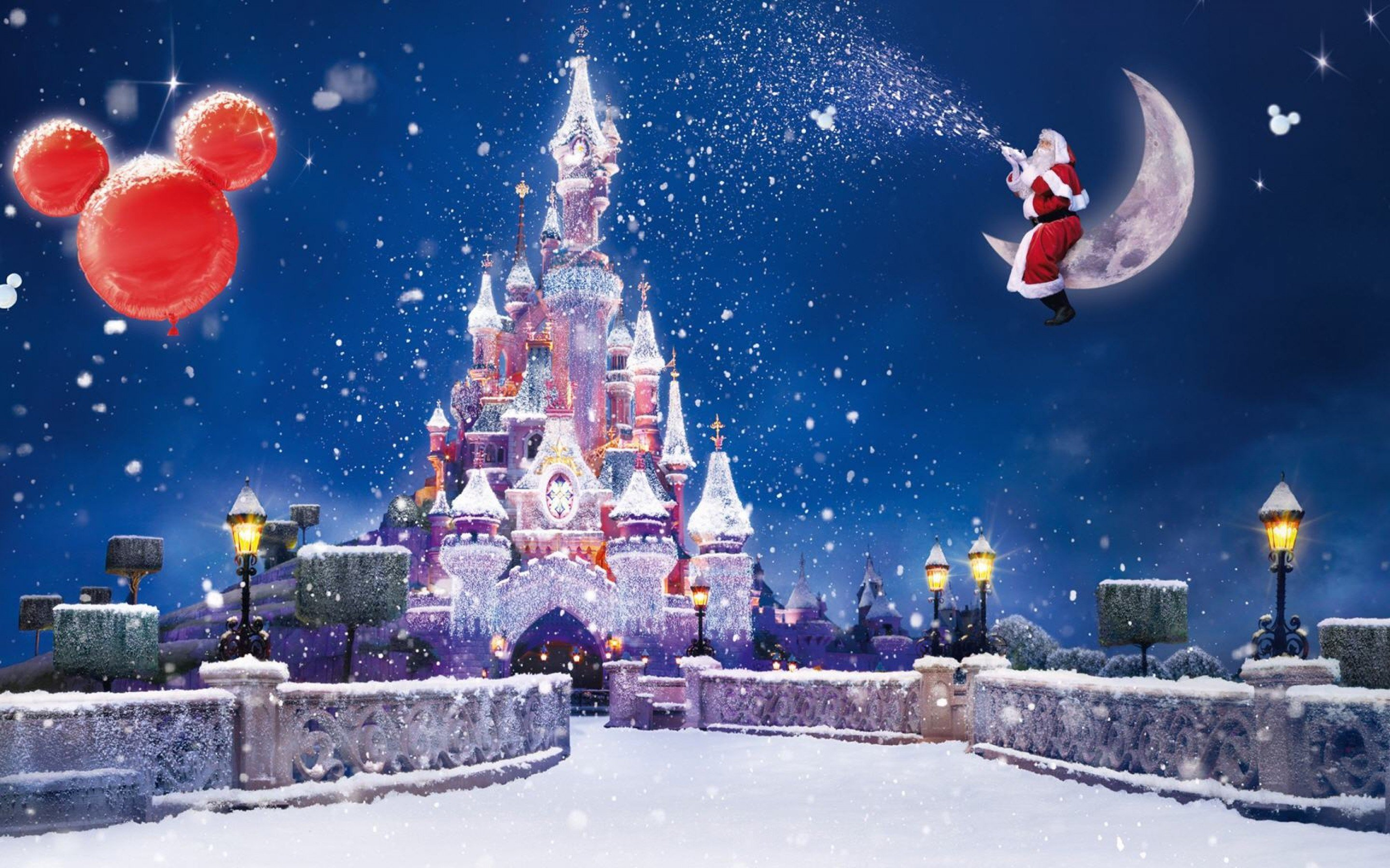 Christmas Disney Castle Desktop Wallpaper Wallpapers Funny PIC