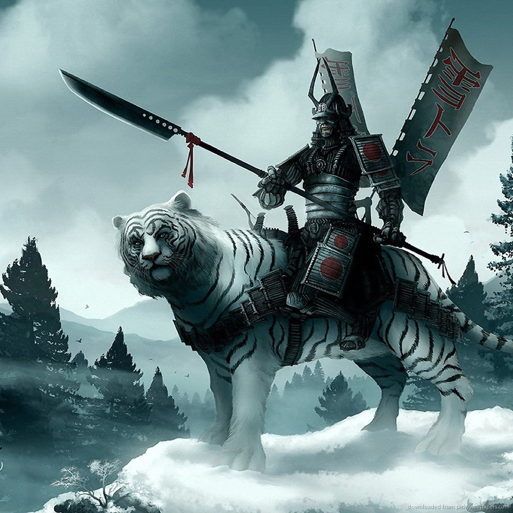 samurai-on-a-white-tiger-PIC-MCH0100268 Ipad Anime Wallpapers Hd 34+