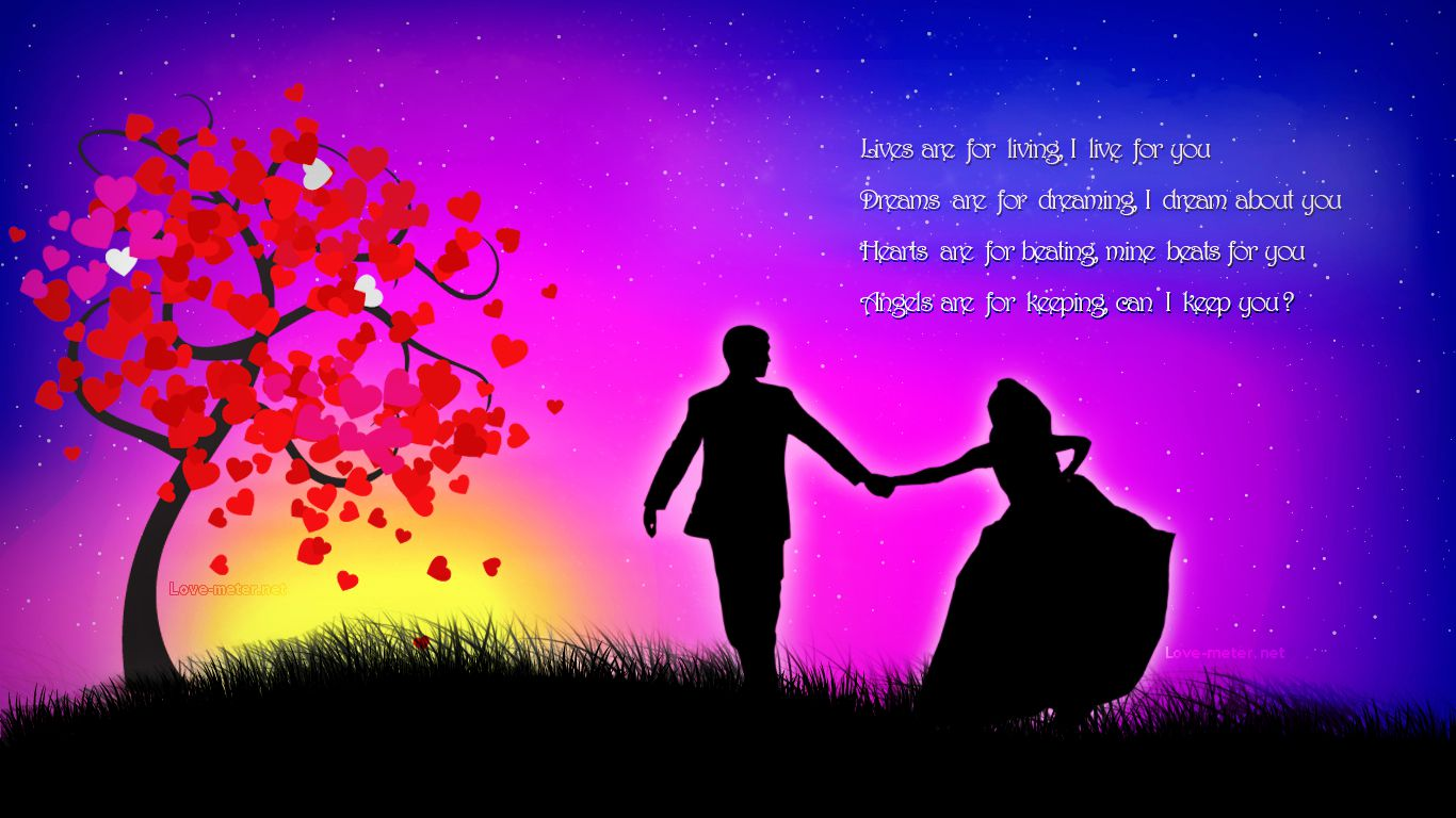 Most Romantic Wallpapers With Love Quotes Hd Wallpaper: Short-quotes-about-love-for-picture-hd-romantic-wallpapers