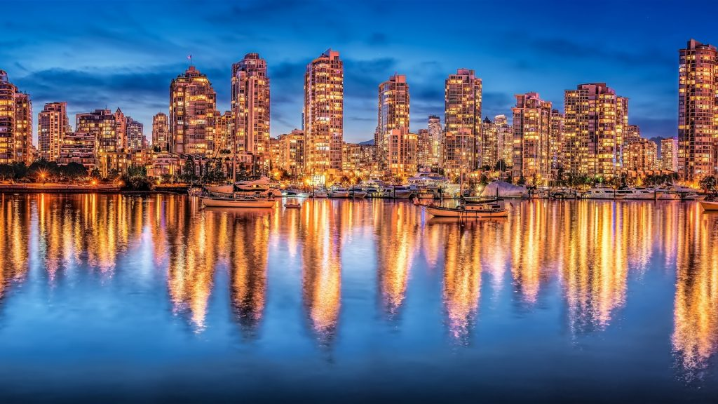 vancouver-canada-night-city-lights-buildings-yachts-water-reflection-P-wallpaper-PIC-MCH0109925-1024x576 Canada City Full Hd Wallpaper 40+
