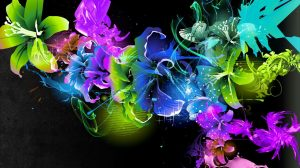 Wallpaper Hd Abstract Flowers 49+