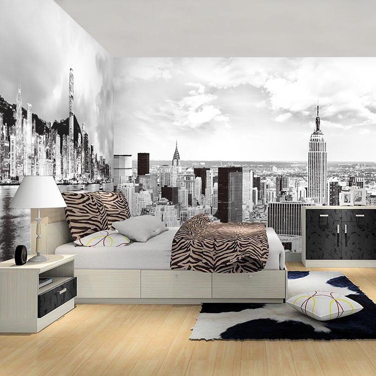 black white d papel murals new york city d photo mural d wallpaper for bedroom sofa pic