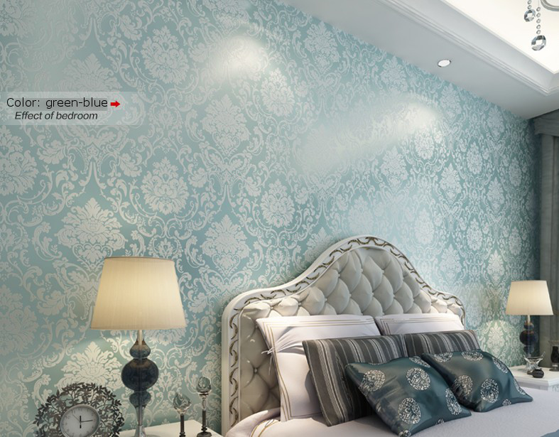 Classic-Non-woven-metallic-damask-wallpaper-roll-blue-background-wall-wallpaper-for-living-room-bed-PIC-MCH053005 Blue And Silver Wallpaper For Bedroom 8+