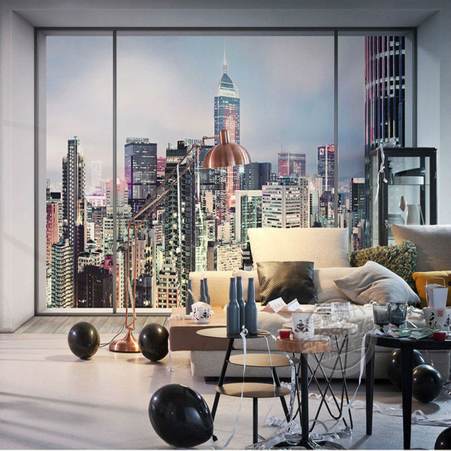 D-Window-city-landscape-Photo-wallpaper-Large-Wall-Mural-New-York-Sunrise-Wallpaper-Bedroom-Room-d-PIC-MCH019981 Nyc Wallpaper For Bedroom 24+