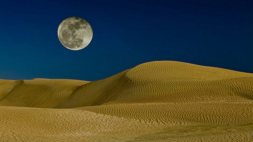 Nature-Desert-Moon-over-the-sand-dunes-PIC-MCH089179-1024x576 Sand Dune Wallpaper 43+
