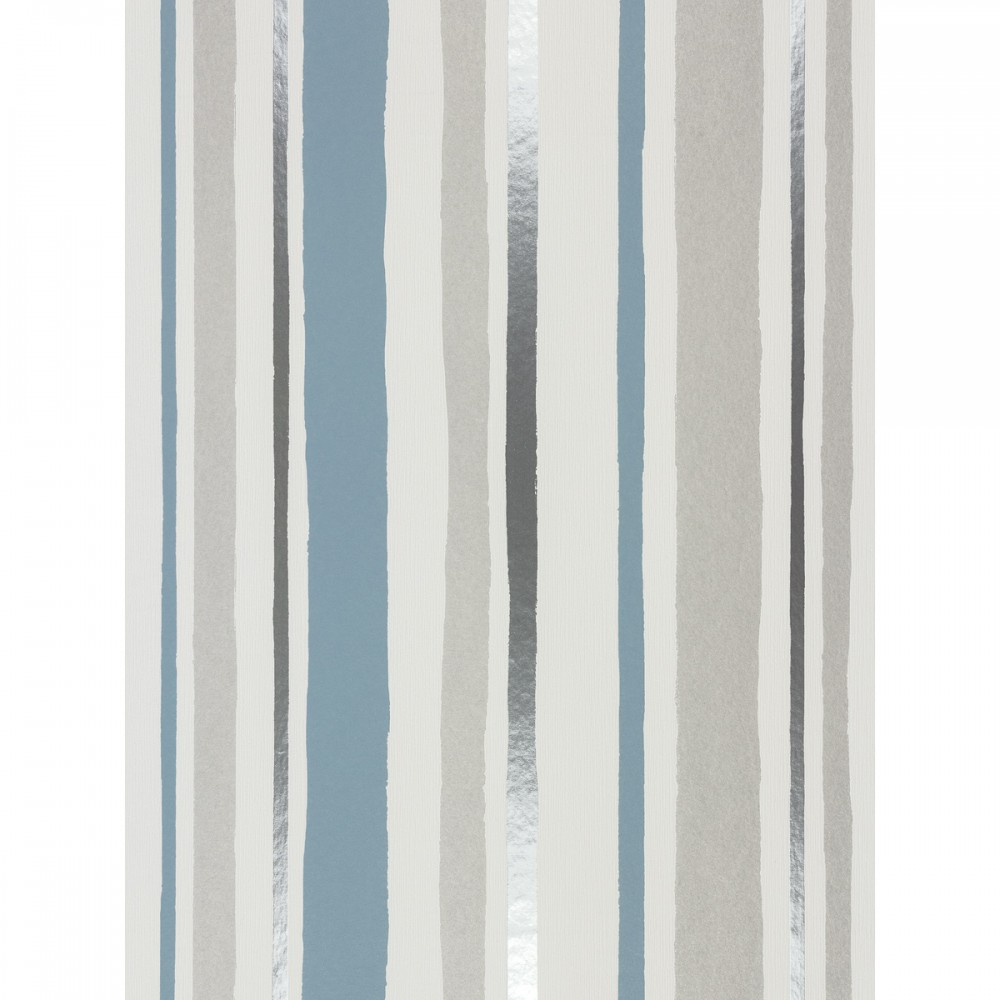 Tapete-Rasch-Vliestapete-PIC-MCH05636 Blue And Silver Striped Wallpaper 12+