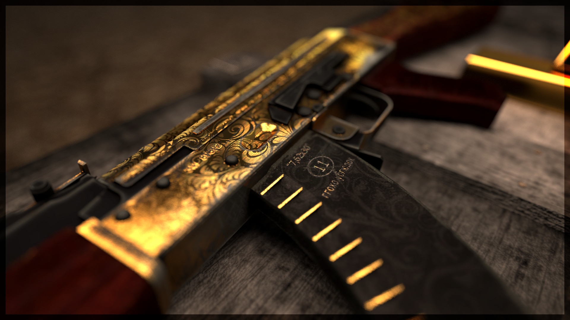 Gold Guns Wallpaper Ak X For K PIC MCH032398