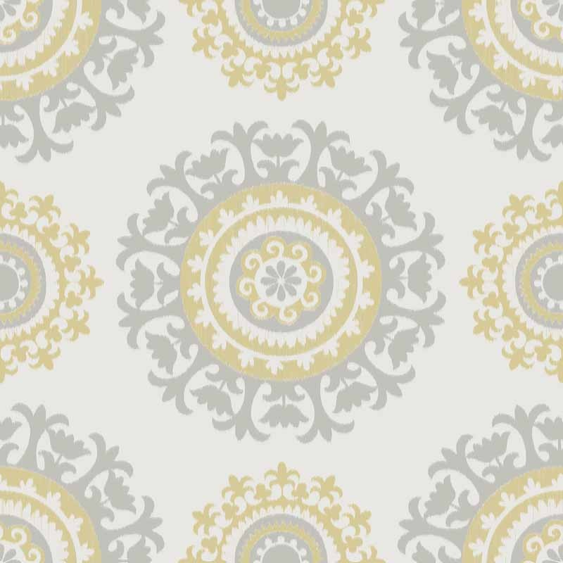 grey-and-yellow-suzani-peel-and-stick-wallpaper-PIC-MCH070037 Wallpaper Grey And Yellow 10+