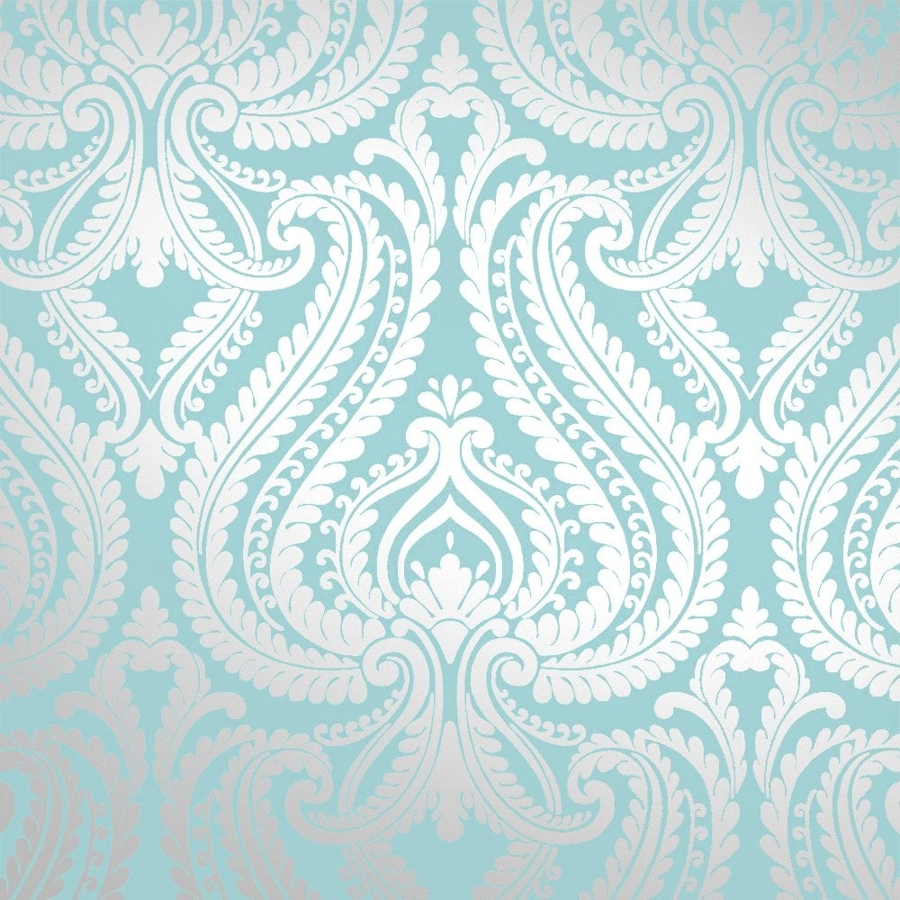 i-love-wallpaper-shimmer-damask-metallic-wallpaper-teal-silver-ilw-p-image-PIC-MCH074506 Light Blue And Silver Wallpaper 13+