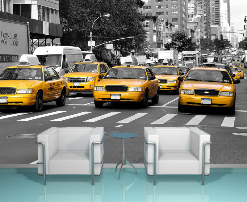 new-york-yellow-taxi-cabs-at-near-times-square-decorating-wallpaper-mural-art-free-delivery-op.-u-PIC-MCH089996 New York Wallpaper Uk 9+