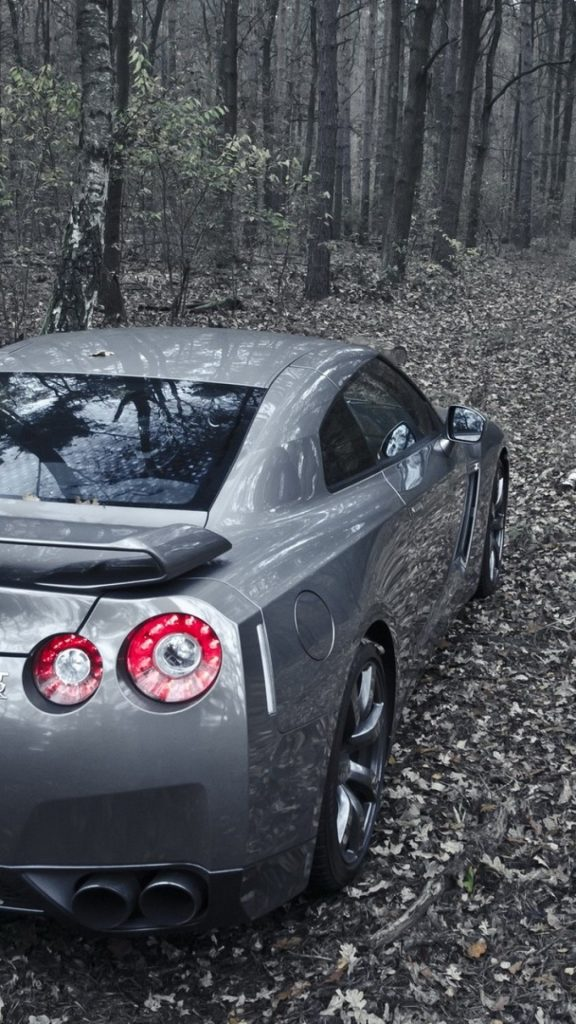 nissan-gt-r-r-forest-back-view-spoiler-silver-cars-PIC-MCH090919-576x1024 Gtr Wallpaper Iphone 7 Plus 26+