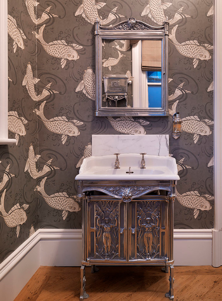 united-kingdom-whimsical-wallpaper-with-bronze-toilet-paper-holders-powder-room-victorian-and-metal-PIC-MCH0109291 Whimsical Wallpaper Bathroom 15+