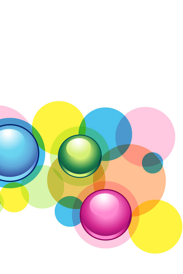 wallpapers-for-iphone-x-colored-bubbles-circles-PIC-MCH0115095 Bubble Wallpapers For Mobile Phones 27+