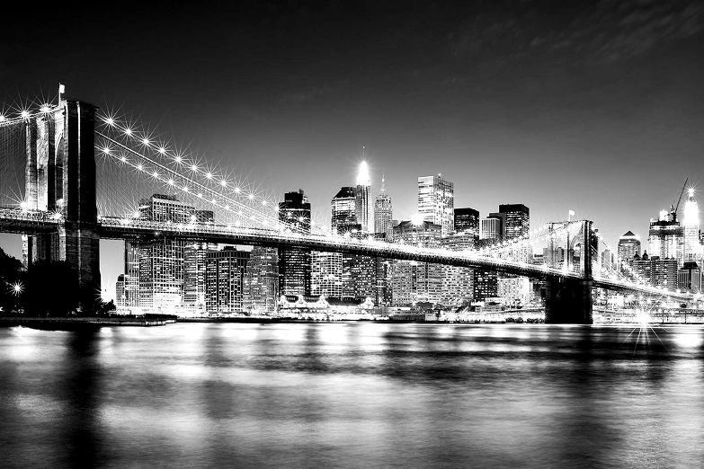 x-new-york-black-and-white-brooklyn-bridge-manhattan-skyline-wall-mural-wallpapers-feature-photo-PIC-MCH01389 New York Wallpaper Uk 9+