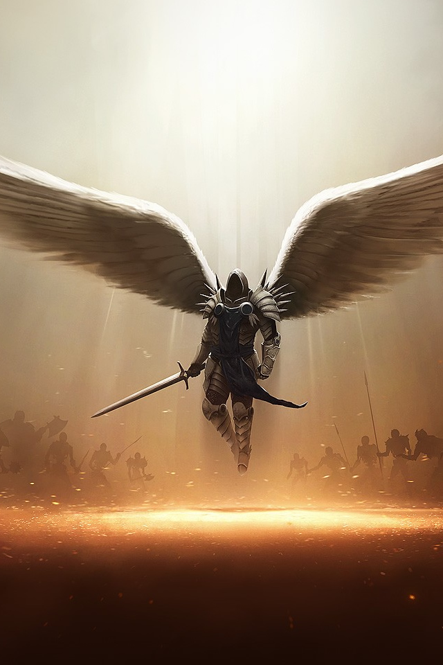 Archangel-Tyrael-Diablo-III-PC-iphone-s-wallpaper-ilikewallpaper-com-PIC-MCH041485 Tyrael Wallpaper Iphone 25+
