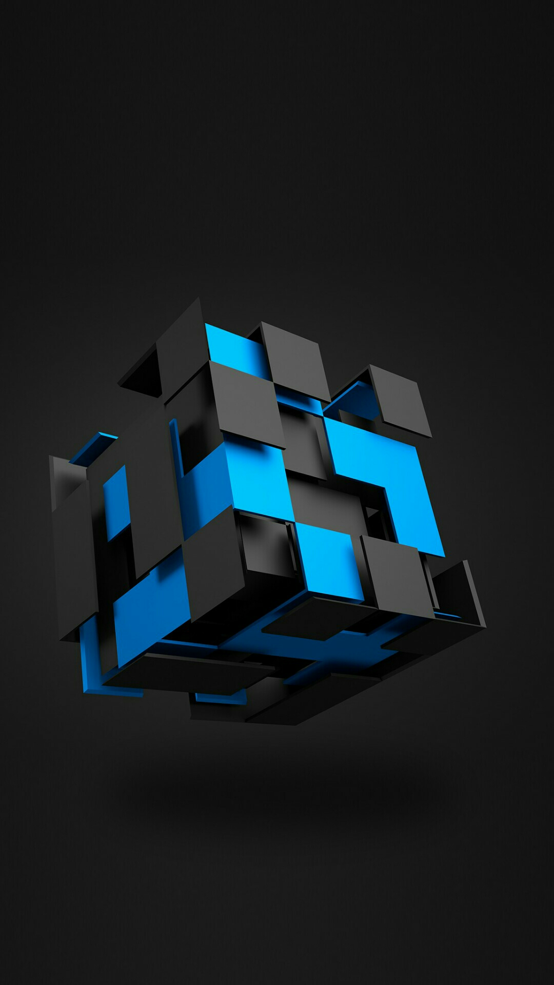 Black And Blue Cubes Mobile HD Wallpaper PIC MCH046869