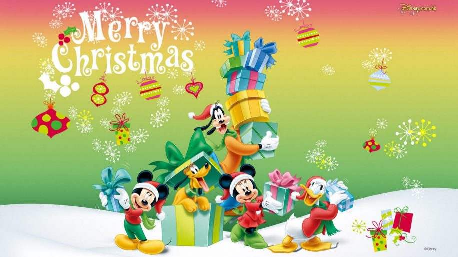 Christmas-Hd-Wallpaper-with-characters-from-Disney-Mickey-and-Minnie-Donald-Duck-Pluto-and-Goofy-PIC-MCH052552 Wallpaper Donald Duck Christmas 38+