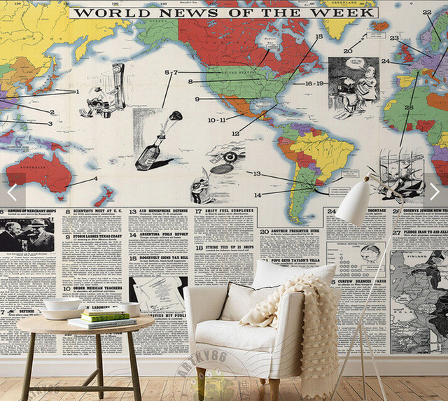 Custom-retro-wallpaper-the-San-Francisco-newspaper-map-for-living-room-restaurant-coffee-shop-backg-PIC-MCH055242 Wallpaper Newspaper 27+