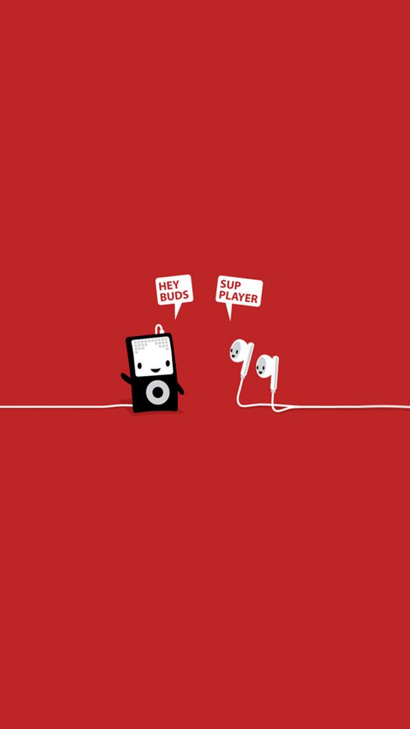 Funny-Music-Player-Earphones-Buds-Android-Wallpaper-PIC-MCH066724-576x1024 Funniest Wallpapers For Android 39+