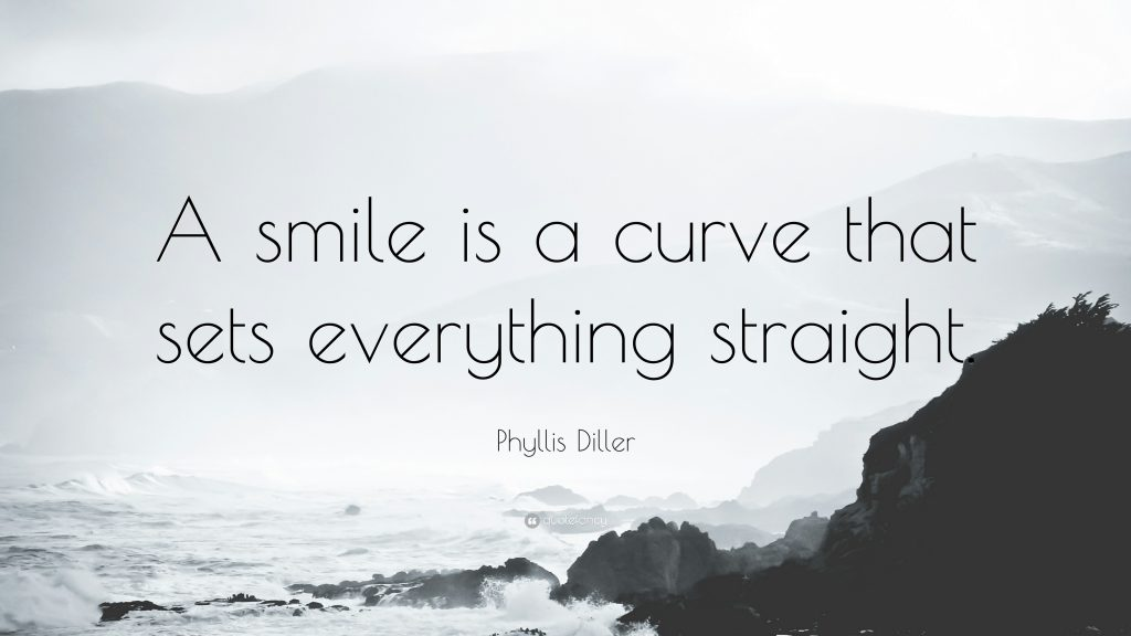 Phyllis-Diller-Quote-A-smile-is-a-curve-that-sets-everything-PIC-MCH014268-1024x576 Smile Wallpaper With Quotes 20+