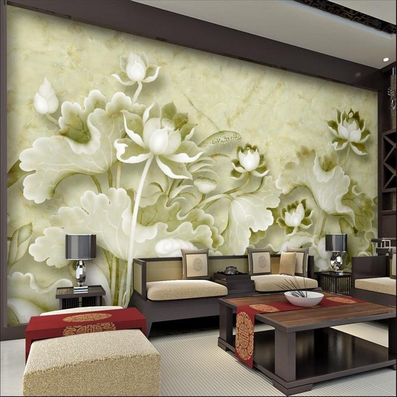 beibehang-Customize-size-High-Quickly-HD-mural-d-wallpaper-wall-paper-Embossed-lotus-papel-de-pare-PIC-MCH045444 Paper Wallpaper Price 31+