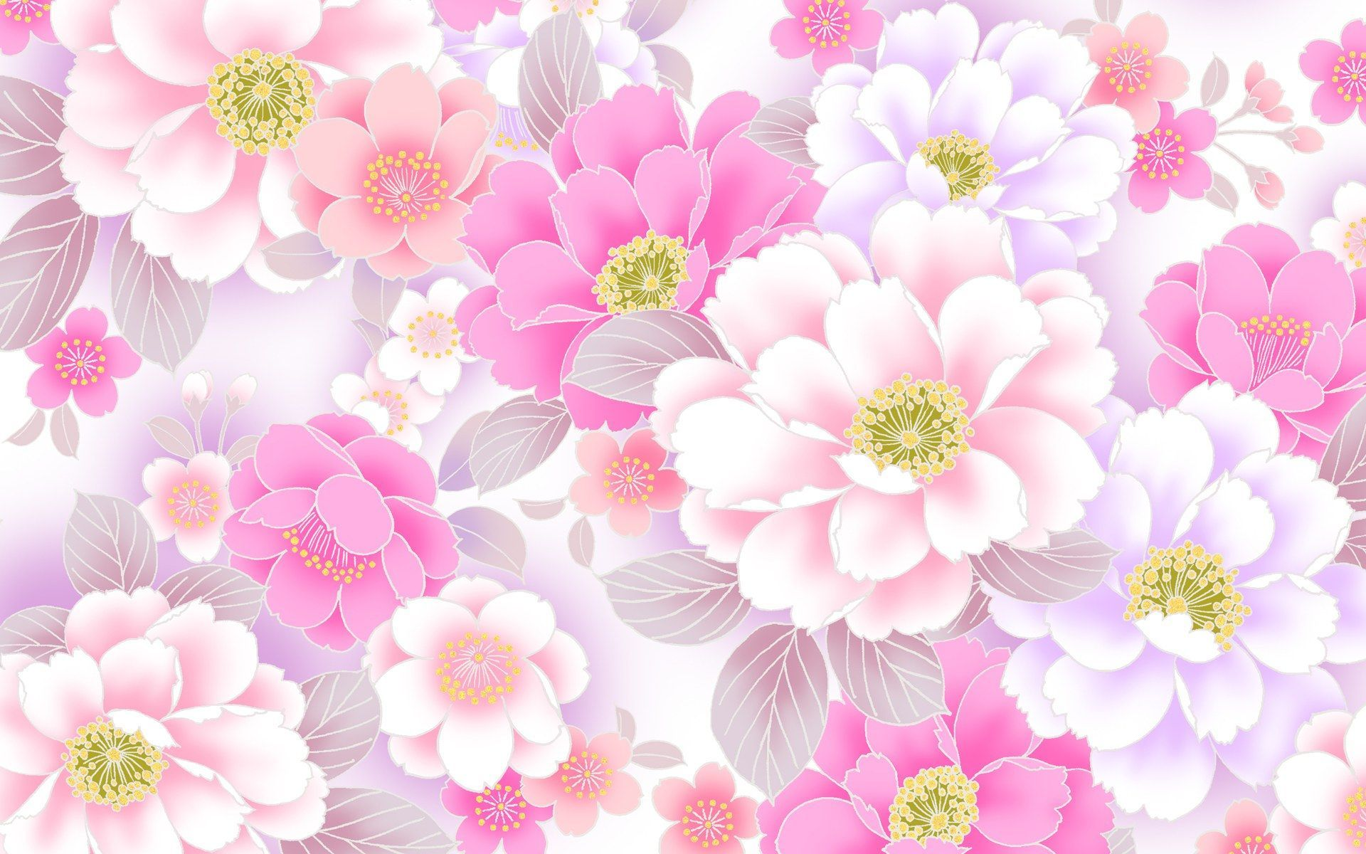 Exciting Wallpapers For Baby Pink Floral Wallpaper And