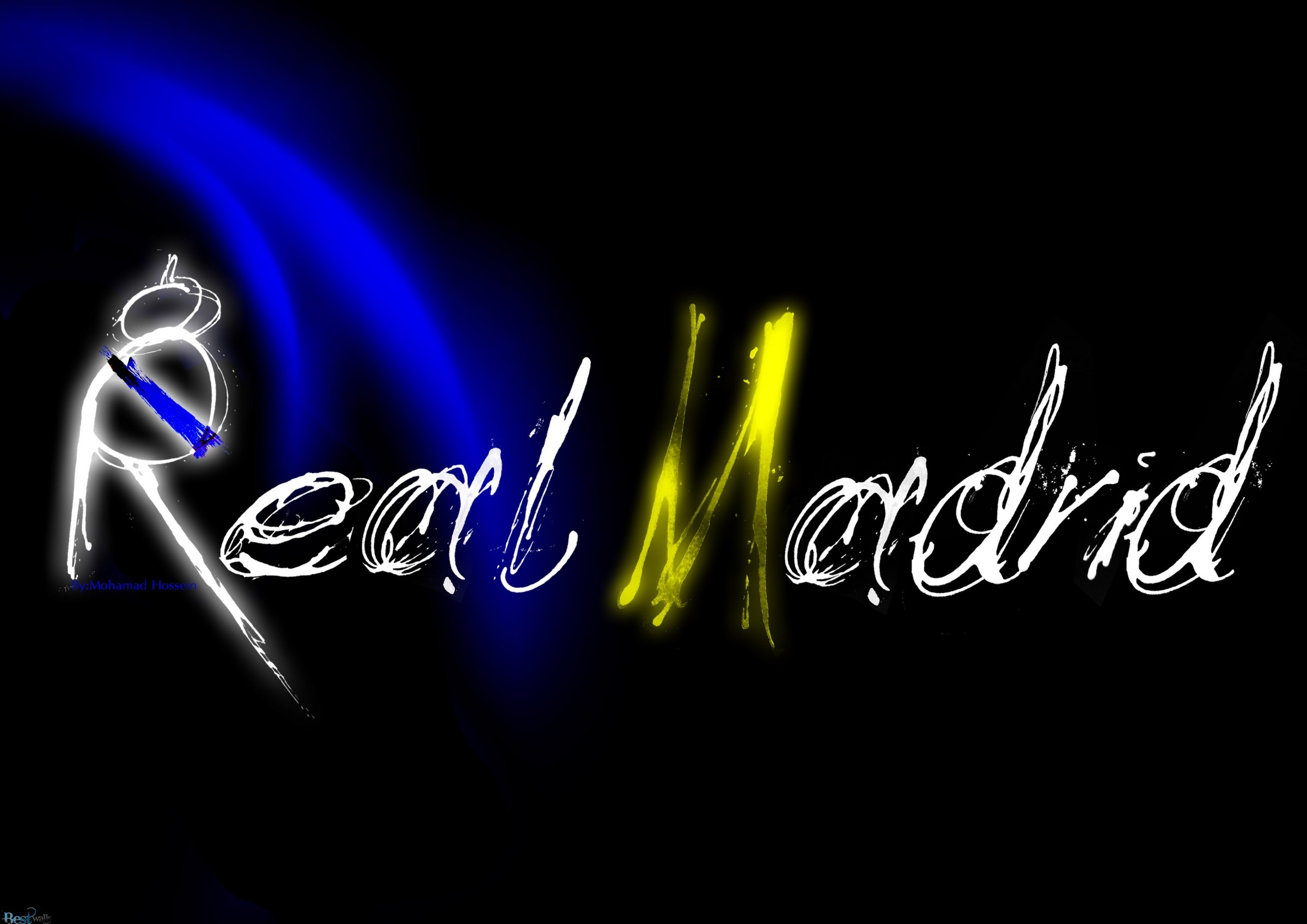 Real Madrid D Logo Wide Wallpaper PIC MCH097921