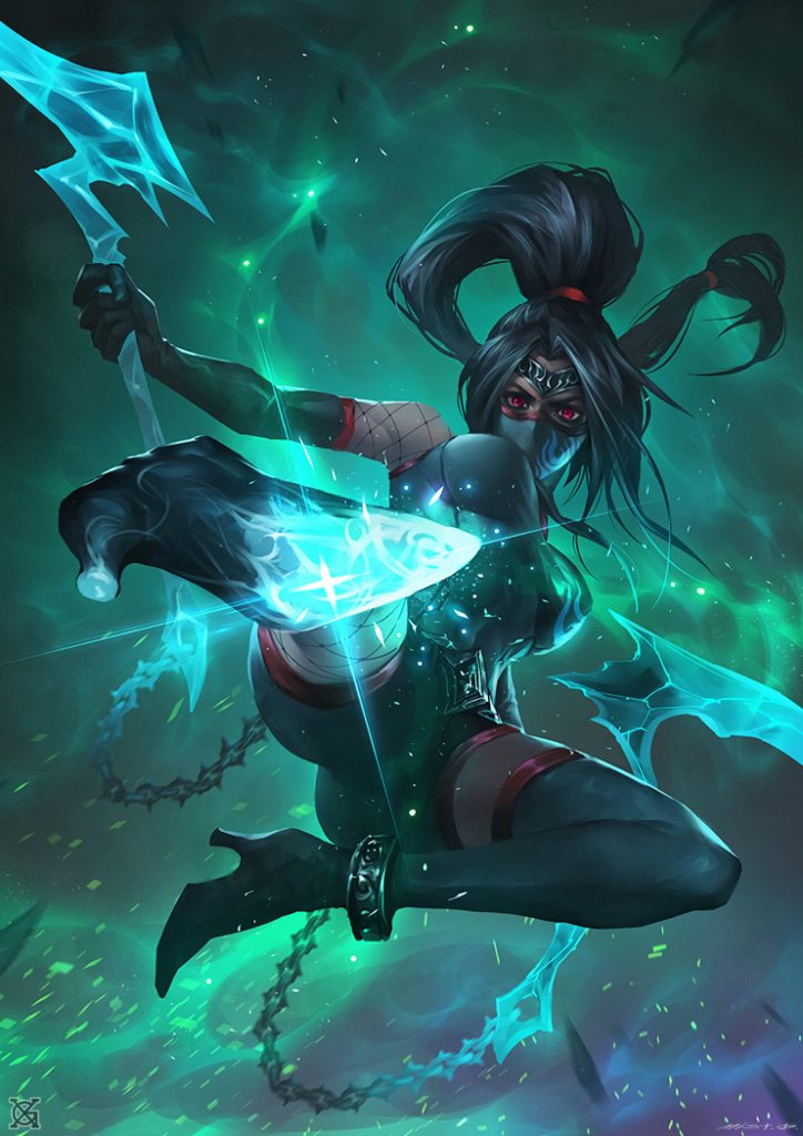 Akali-by-€™MIST-HD-Wallpaper-Background-Fan-Art-Artwork-League-of-Legends-lol-PIC-MCH039301-724x1024 Akali Wallpaper 1366x768 27+