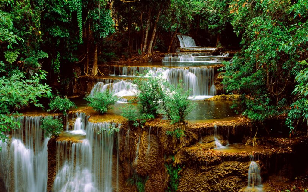 Amazing-waterfalls-with-small-cascades-wallpaper-PIC-MCH039861-1024x640 Wallpapers Of Waterfalls 24+