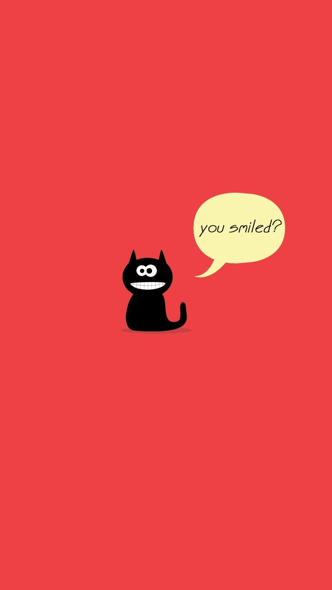 Black Cute Smile Cat Tap To See More Funny Cartoon IPhone
