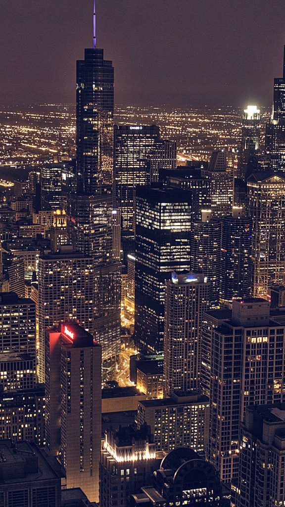 Chicago-City-Aertial-View-Night-iPhone-Plus-HD-Wallpaper-PIC-MCH052387-576x1024 City Hd Wallpaper Iphone 29+