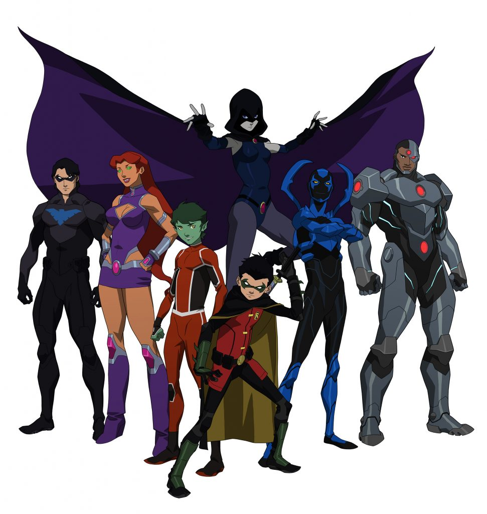 Justice-League-Teen-Titans-PIC-MCH079141-971x1024 Raven And Starfire Wallpaper 22+