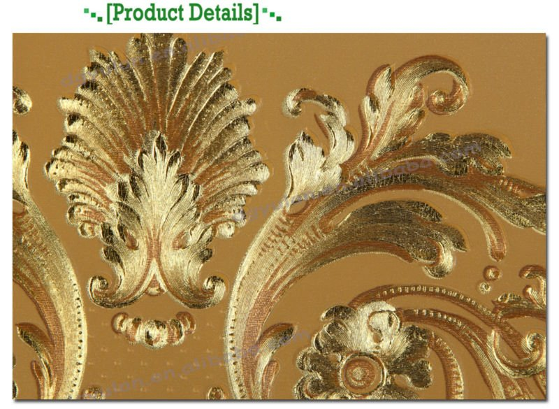 PIC-MCH023460 Metallic Gold Wallpaper Borders 11+