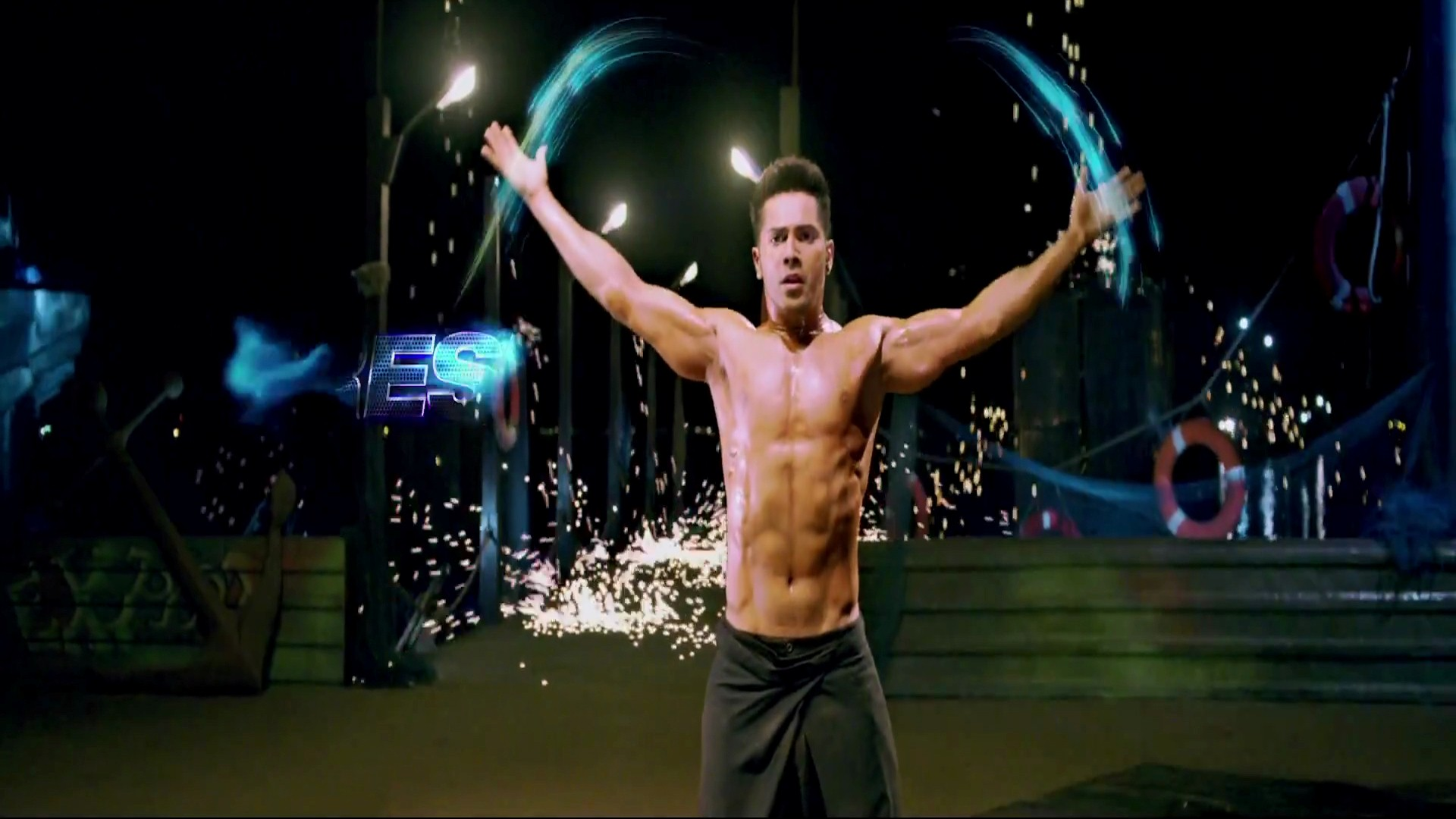 Pack Body Abs Of Varun Dhawan Actor In Abcd Film Hd Photo Pic