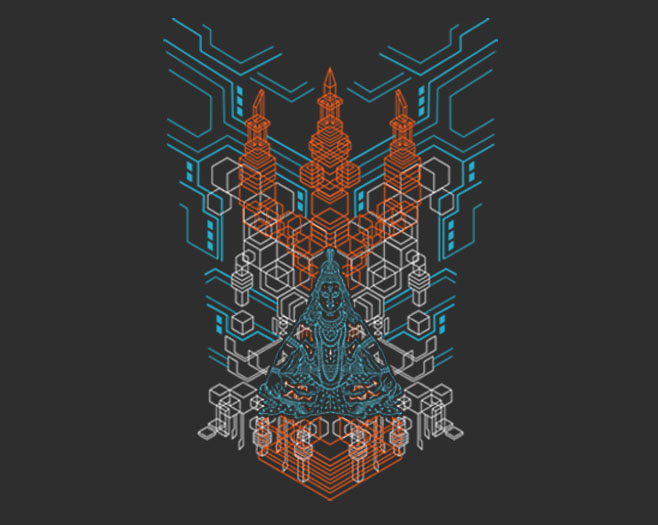 Shiva-Trishula-d-multi-color-fluo-print-back-wwwshamanelectrocom-by-Shaman-by-jpg-PIC-MCH0101490 Lord Shiva Psychedelic Wallpapers 7+