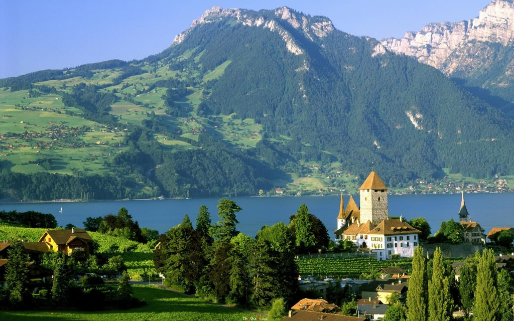 Spiez-Castle-Lake-Thun-Switzerland-desktop-background-wallpaper-wide-PIC-MCH0103406-1024x640 Switzerland Wallpaper For Desktop 30+