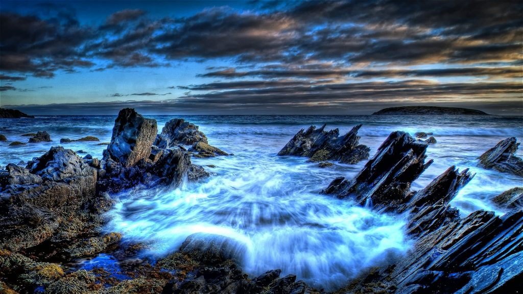 Iphone 5 Ocean Wallpaper Tumblr 24 By Admin Beach Shore Rocks Rocky Clouds Awesome Sea Foam