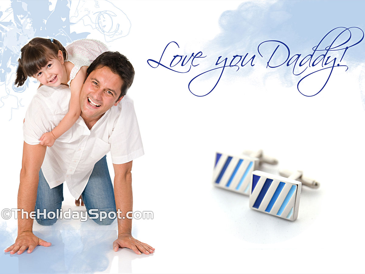 Daughter Saying I Love U Daddy On Fathers Day Wallpapers PIC