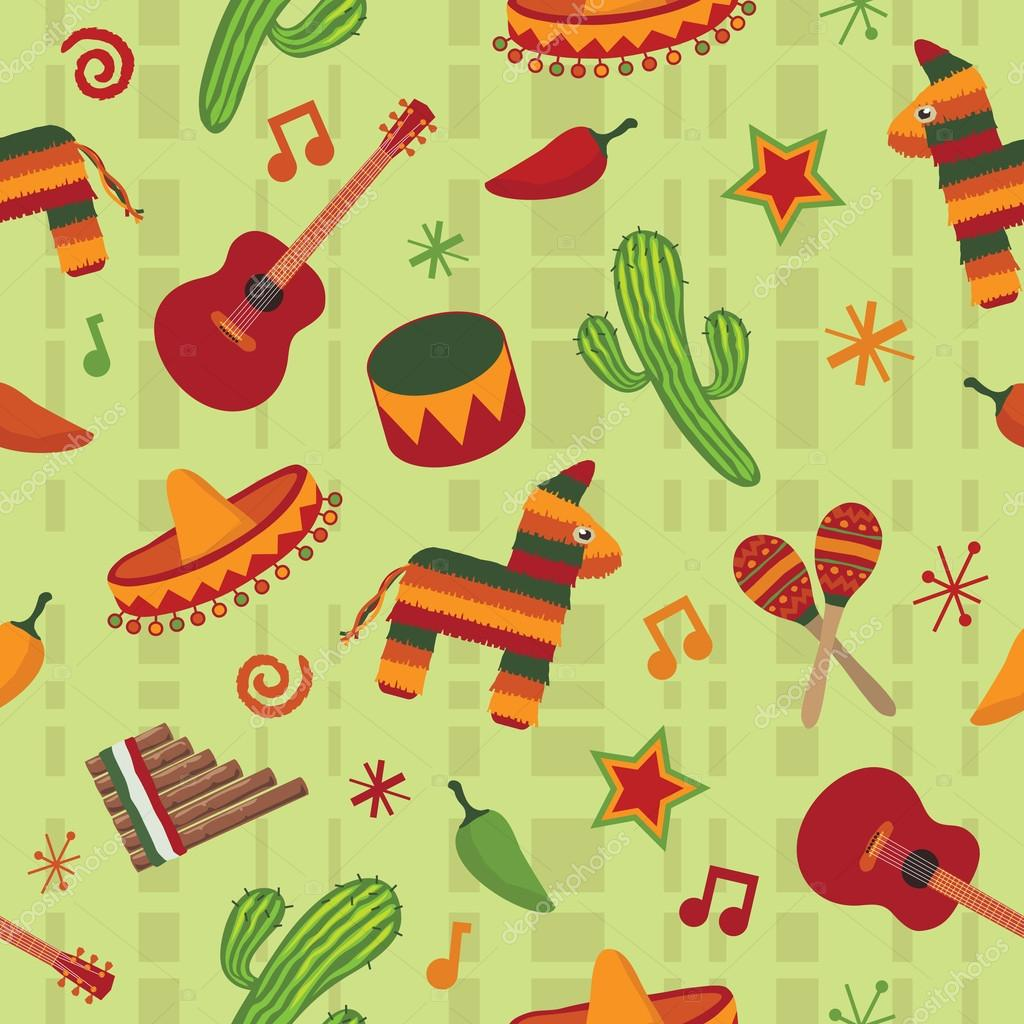depositphotos-Seamless-mexican-pattern-PIC-MCH057764 Mexican Wallpaper For Walls 14+
