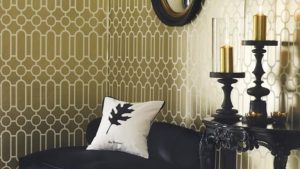 Black Gold Wallpaper Living Room 25+