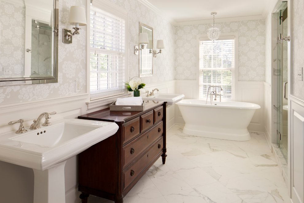 marble-wallpaper-bathroom-traditional-with-bathroom-wallpaper-traditional-bathroom-vanity-lights-PIC-MCH084589 Thibaut Wallpaper Grcloth 18+