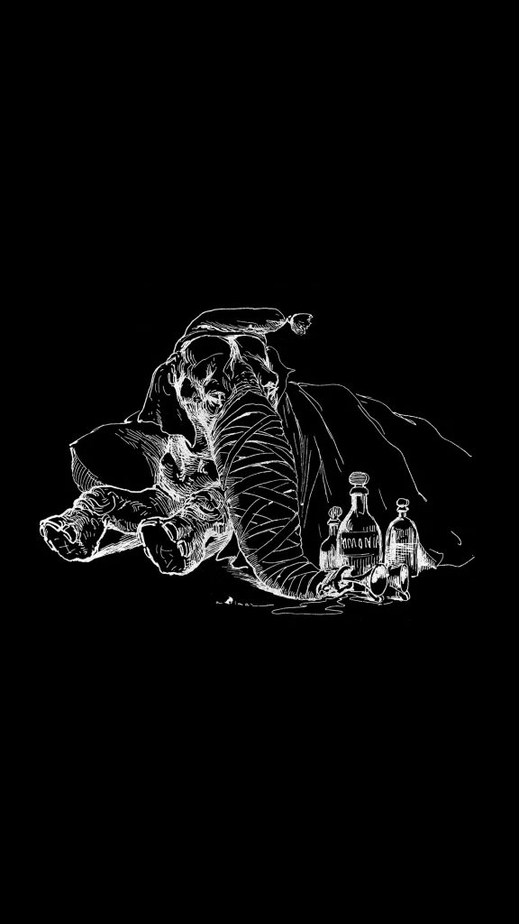 papers.co-at-elephant-drawing-morning-bw-dark-animal-art-illustration-iphone-plus-wallpaper-PIC-MCH093301-576x1024 Animal X Ray Wallpaper 14+
