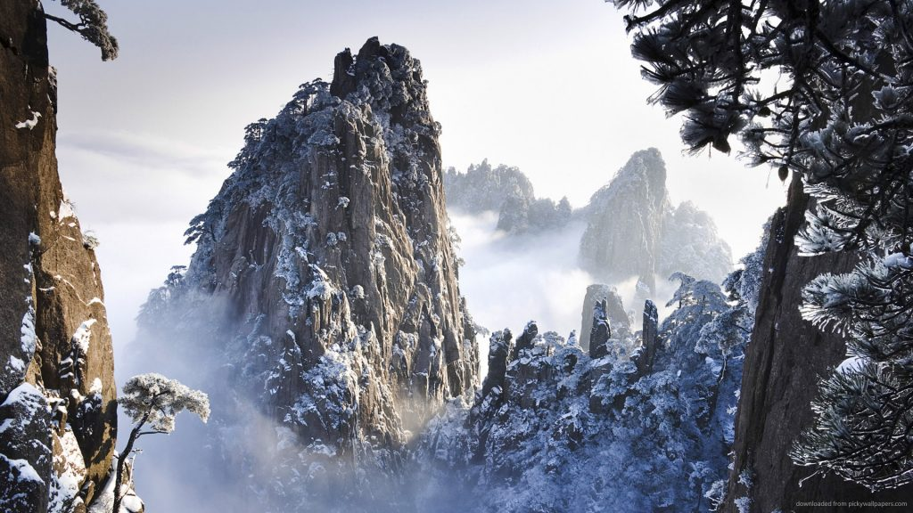 snowy-peaks-and-pine-trees-PIC-MCH0102796-1024x576 Pine Tree Snow Wallpaper 30+