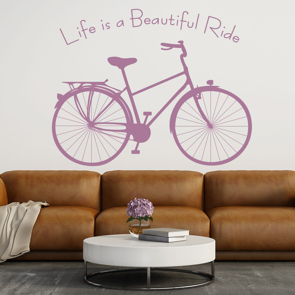 Beautiful-Ride-Vinyl-Wall-Stickers-Inspirational-Quote-Wall-Decal-Home-Decor-Nontoxic-PVC-Wallpaper-PIC-MCH045102 Non Toxic Wallpaper 26+