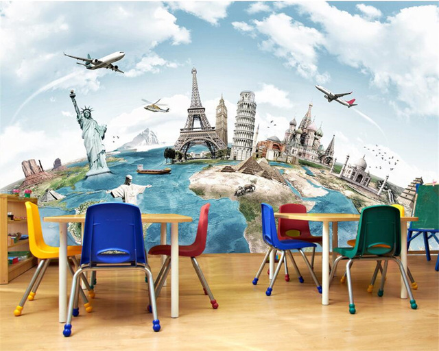 Beibehang-Custom-Wallpaper-Home-Decorative-Mural-Tours-around-the-world-Travel-Backdrop-Living-Room-PIC-MCH045436 Around The World Wallpaper 27+